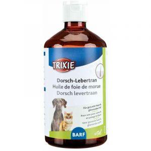 Huile de foie de morue, chien/chat, d/f/nl - 500 ml - Lot de 5 - TRIXIE