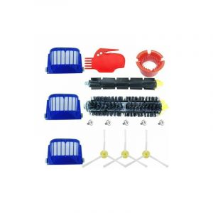 Accessoire pour iRobot Roomba Série 600 Kit d'entretien avec Brosses & Filtres pour 600 605 610 615 616 620 621 625 630 631 632 650 651 660 670 671 680 691 696 - Kit de 15 pièces - STOEX