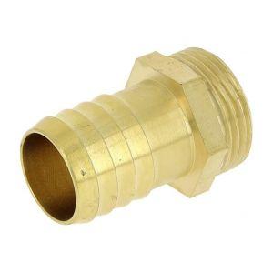 Raccord PE strié mâle laiton - M 1' - Tube PE 25 mm - Puteus