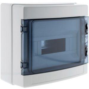 Coffret étanche IP65 8 modules livré avec accessoires - Zenitech