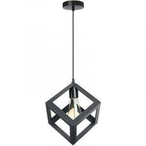 E27 Créatif Metal Suspensions Plafonnier Luminaire Lustre Industriel Vintage Style Noire Symétrie Plafonnier Luminaire - STOEX