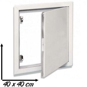 Trappe de visite métallique blanc laqué SEMIN | 40 x 40 cm