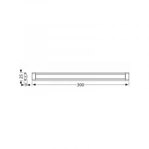 Réglette LED 50 CM Dimmable tactile avec alimentation - ELECTRIS