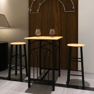 Lot D'Une Table Haute De Bar Avec 2 Tabourets ''Phoenix'' - ASUPERMALL
