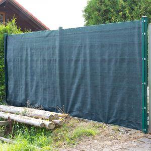 Dema - Brise vue pour clôture 2 x 25 m de couleur verte