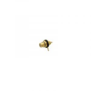 EMBASE FEMELLE RCA DOREE - NOIR - CA057B - VELLEMAN