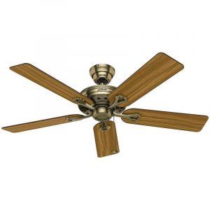 Ventilateur de plafond SAVOY - Ø hélice 1320 mm - rosier / chêne mi-clair / laiton ancien - CASAFAN