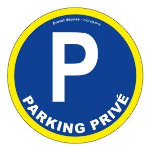 Panneau Parking privé - haute visibilité - Ø 300mm - 4090054 - NOVAP