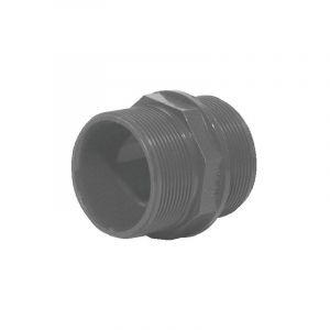 Mamelon PVC pression droite/droite 26x34 - GLYNWED