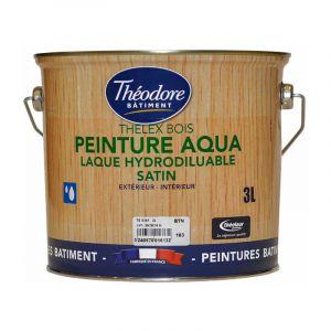 Thelex Bois Aqua - RAL 1005 Jaune miel - 3L : Peinture laque satinée pour la décoration et la protection du bois en intérieur et en extérieur - PEINTURES THEODORE