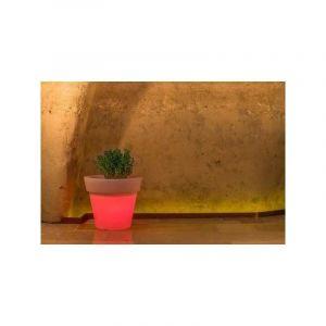 Pot de Fleurs Begonia en résine Rond H45 Lampe Rouge Ø 50Cm - IDRALITE