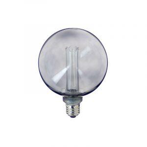Ampoule LED déco hologramme globe verre fumé culot E27 blanc chaud - XANLITE