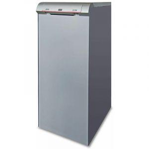 Chaudière fonte FUEL GITRE avec eau chaude sanitaire avec brûleur flamme bleue - GITRE 5 - Puissance 32 kW 'Low Nox' avec ballon ECS 100 litres - RIELLO