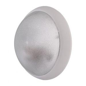 Hublot extérieur fluo 2X9W Ø 300mm blanc verre clair avec lampes 4000K 2G7 et ballast elec CL2 IK04 IP44 OPTION EBENOID 078331 - L'EBENOID