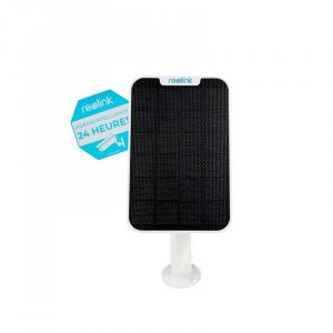 Panneau solaire pour caméras Reolink - Alimentation continue / support réglable / Câble 4 mètres - ULTRA SECURE