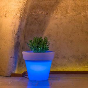 Pot de Fleurs Begonia en résine Rond H95 Lampe Bleue Ø 110Cm - IDRALITE