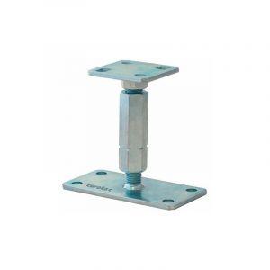 Pied de poteau réglable hauteur H100/140mm universel galvanisé B16X8 - SUD BOIS