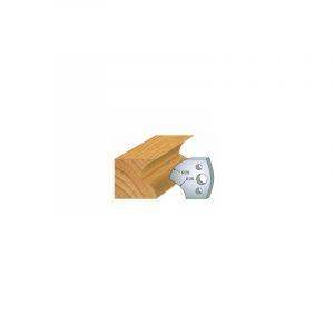 120 : jeu de 2 fers 40 mm congé quart de rond 20 mm pour porte outils 40 et 50 mm - LUXOUTILS