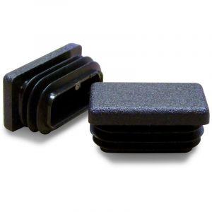 Ajile - Embout Rectangulaire NOIR pour tube de dimension 40x27 mm et d'épaisseur 1,0-3,0 mm