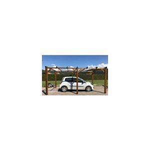 WMU - Carport bois |15m² 3 x 5| 1 à 2 places - Autoportant