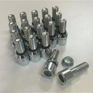 20 Vis Etoile Changeables 12x150 L2 25mm - Acier Forge - Coniques ou plates - ADNAuto
