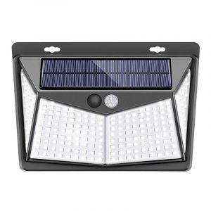 208LED Lampe Solaire Applique Jardin Exterieur Etanche Détecteur de Mouvement 3Mode Hasaki