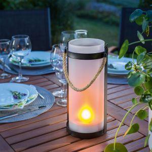Lanterne solaire effet flamme lumière décorative lumière solaire LED jardin esotec 102099