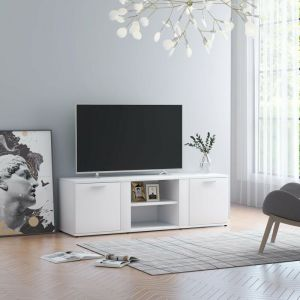 Meuble TV Blanc 120x34x37 cm Aggloméré - VIDAXL