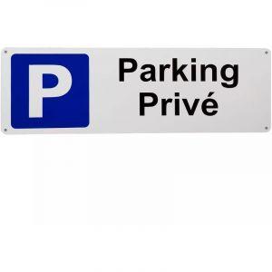 Large panneau extérieur 'PARKING PRIVÉ' - PVC résistant (42 x 14 cm) - ULTRA SECURE