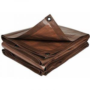 Bâche de jardin marron 140 g/m2 10 x 15