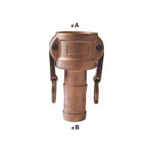 Raccord Camlock femelle - embout cannelé en laiton - Type C - Femelle camlock 3/4'' - embout cannelé 19/20mm - MULTITANKS