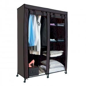 Armoire de rangement avec penderie Grise - ACHAT UTILE