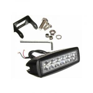 Ohm-easy Led Lighting - Projecteur LED de travail 18W extérieur IP67 noir rectangulaire