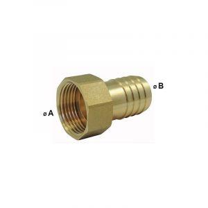 Raccords cannelés : Embout femelle 2 pièces (écrou libre) - Ø 1 pouce 1/2 x 39mm - EZFITT