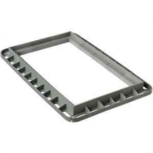 Cadre renforcé MULTIGRIL - Gris - 300x500mm - FIRST PLAST