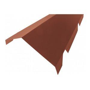 Faitière crantée double pour bac acier 1045 - L 2100mm - Coloris - Rouge 8012, Hauteur - 260 mm, Largeur - 450 mm, Longueur - 2100mm - MCCOVER