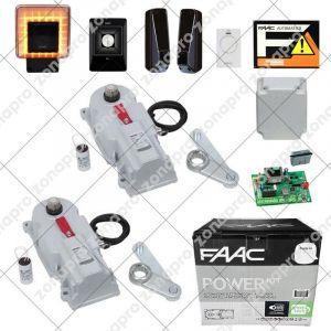 FAAC POWER KIT Enterré pour portail battant 2 - 3,5M 230V SAFE