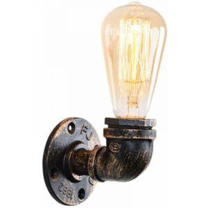 Lampe à Tubes d'eau,Rétro Applique Murale Metal Industrielles Eclairage Decoratif,E27 Lampe à Douille - STOEX