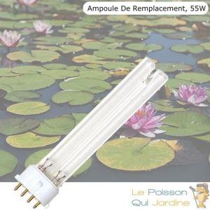 Le Poisson Qui Jardine - Ampoule De Remplacement, UVC 55W, Pour Aquarium, Bassin De Jardin