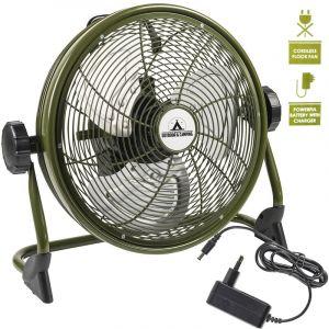 Bestron Aod12Accu Ventilateur De Sol Avec Batterie Intégrée Vert
