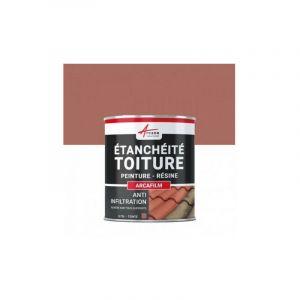 PEINTURE d'ETANCHEITE TOITURE - Anti infiltrations - Réparation des fuites - ARCAFILM | Ardoise - 0.75l - ARCANE INDUSTRIES