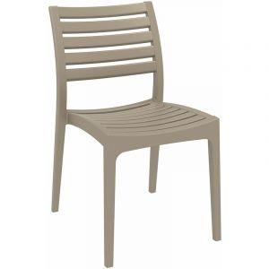 Chaise de jardin en plastique Ares boue - CLP
