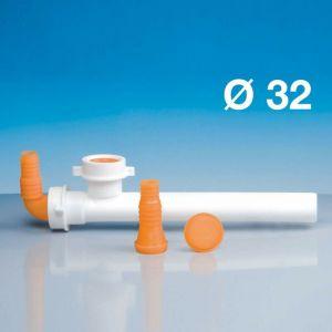 Raccord 2 sorties Prises machine à laver LIRA Art/8 | blanc - LIRA S.P.A