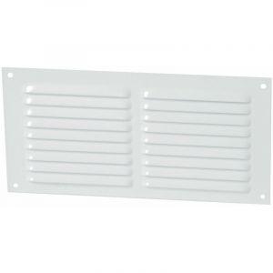 Nicoll - Alu laque blanc avec moustiquaire : Rectangulaire horizontale 10x20