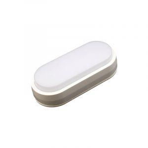 Hublot LED Ovale 12W blanc neutre IP65 - VISION-EL