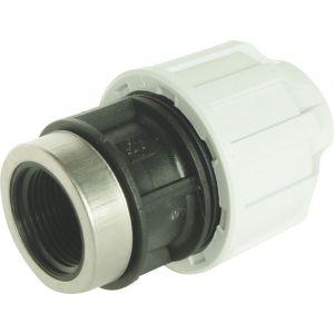 Raccord droit femelle Plast pour tube PE (13x16 - 15x21) - Ø PER : 13x16 - Filetage : 15x21 - SOMATHERM
