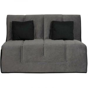 LOS ANGELES - Banquette Slyde 140 angel gris - matelas Dunlopillo - RELAXIMA