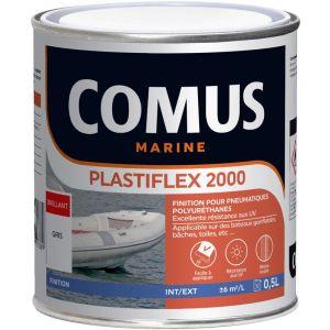 Comus - PLASTIFLEX 2000 NOIR 0,5L - Finition pour Pneumatiques 100% polyuréthanes MARINE
