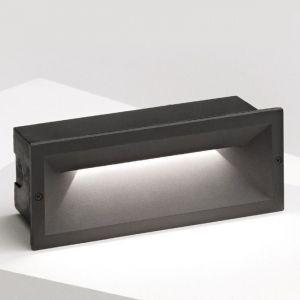 Steplight gea led ges350 led aluminium polycarbonate applique rectangulaire moderne encastrable 13w 1200lm 4000 ° k ip65