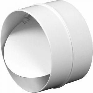 125mm Non Retour Tuyau Lien PVC Blanc Rond Grille - AWENTA